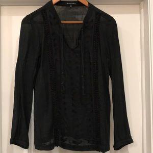 Madewell size S black beachy long sleeve